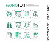 infographics icons collection... | Shutterstock .eps vector #448581304