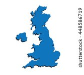 united kingdom map vector  uk... | Shutterstock .eps vector #448586719