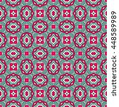 seamless pattern with ethnic... | Shutterstock .eps vector #448589989