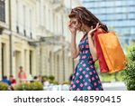 Shopping Womanwith Bag  In City