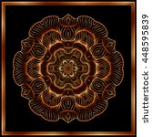 bronze mandala. copper mandala. ... | Shutterstock .eps vector #448595839