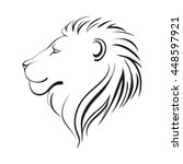 isolated lions head  vector... | Shutterstock .eps vector #448597921