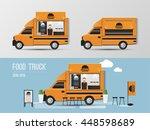 food truck  street food vector... | Shutterstock .eps vector #448598689