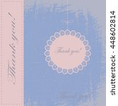 vintage invitation thank you... | Shutterstock .eps vector #448602814