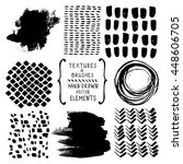 hand drawn textures and brushes.... | Shutterstock .eps vector #448606705