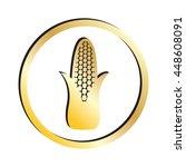 gold corn icon | Shutterstock .eps vector #448608091