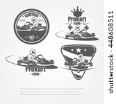 set in kart emblems. the racer... | Shutterstock .eps vector #448608511