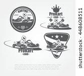 set in kart emblems. the racer... | Shutterstock .eps vector #448608511