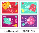 abstract sale banners in the... | Shutterstock .eps vector #448608709
