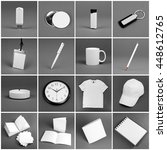 Set Of White Elements For...
