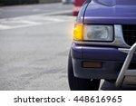 car headlight. car open turn... | Shutterstock . vector #448616965