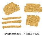 gold glitter splatter... | Shutterstock .eps vector #448617421