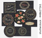 set of vintage label on... | Shutterstock .eps vector #448627261