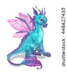 Cartoon Blue Fantasy Dragon ...