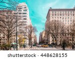 photo of streets and buildings... | Shutterstock . vector #448628155