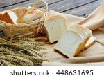 white bread or sliced bread in...   Shutterstock . vector #448631695