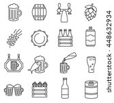 Beer Icons Set. Thin Line Design