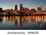 downtown portland oregon | Shutterstock . vector #448635