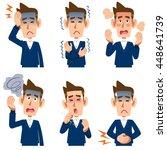 symptoms six men of illness | Shutterstock .eps vector #448641739