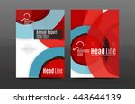 annual report cover. geometric... | Shutterstock .eps vector #448644139