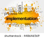 implementation word cloud... | Shutterstock .eps vector #448646569