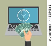 payment for computer online... | Shutterstock .eps vector #448654861