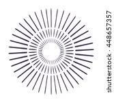 sunburst in black and white...   Shutterstock .eps vector #448657357