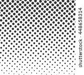 black  halftone dots on white... | Shutterstock . vector #448658314