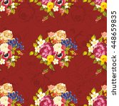 seamless floral pattern with... | Shutterstock .eps vector #448659835