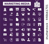 marketing media icons | Shutterstock .eps vector #448661701