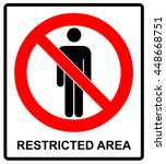 vector circle prohibited sign... | Shutterstock .eps vector #448668751