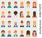 set of vector avatars | Shutterstock .eps vector #448674259