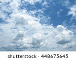 the vast blue sky and clouds sky | Shutterstock . vector #448675645