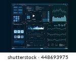human user display  . mixed...   Shutterstock . vector #448693975