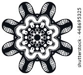 mandala flower decoration ... | Shutterstock .eps vector #448695325