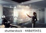 social networking technologies .... | Shutterstock . vector #448695451
