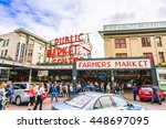 pike place market or public... | Shutterstock . vector #448697095