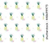 hawaiian seamless pattern with...   Shutterstock .eps vector #448699975