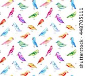 seamless pattern with colorful... | Shutterstock . vector #448705111