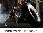 flipping in gym | Shutterstock . vector #448706077