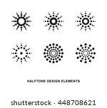 abstract circular halftone dots ... | Shutterstock .eps vector #448708621