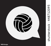 web icon. volleyball | Shutterstock .eps vector #448712095