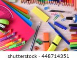 background with school or... | Shutterstock . vector #448714351