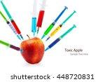 toxic gmo apple fruit... | Shutterstock . vector #448720831