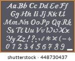 english alphabet letter latin... | Shutterstock . vector #448730437