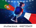 cup on the football field with...   Shutterstock . vector #448735609