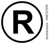registered trademark symbol  ... | Shutterstock .eps vector #448737295