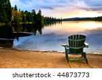 Wooden Chair On Beach Of...