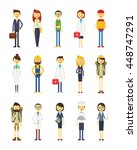 cartoon vector characters of... | Shutterstock .eps vector #448747291