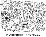 doodle sketch drawing vector | Shutterstock .eps vector #44875222